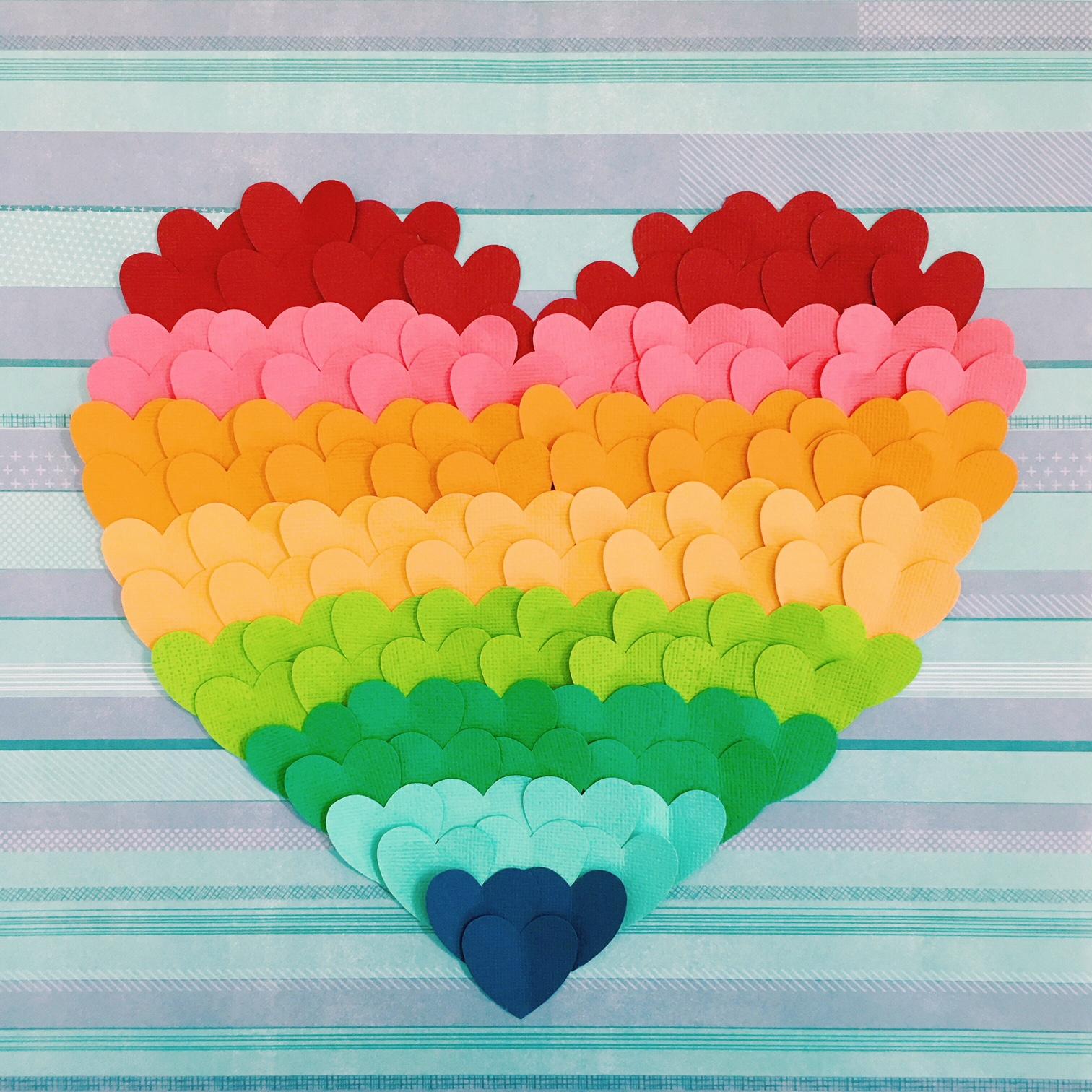 More love - paper hearts