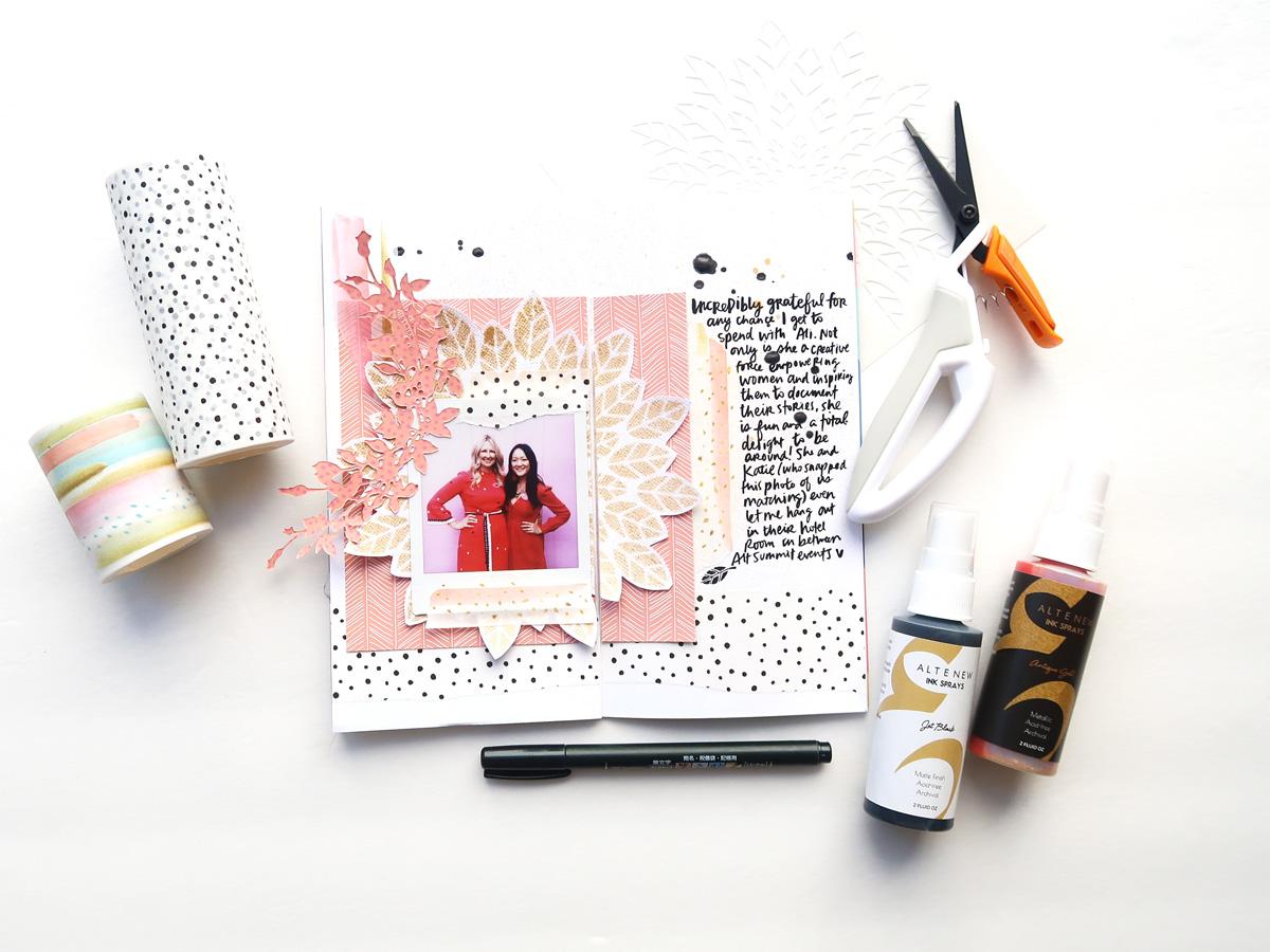 Altenew Amy Tangerine Traveler's Notebook
