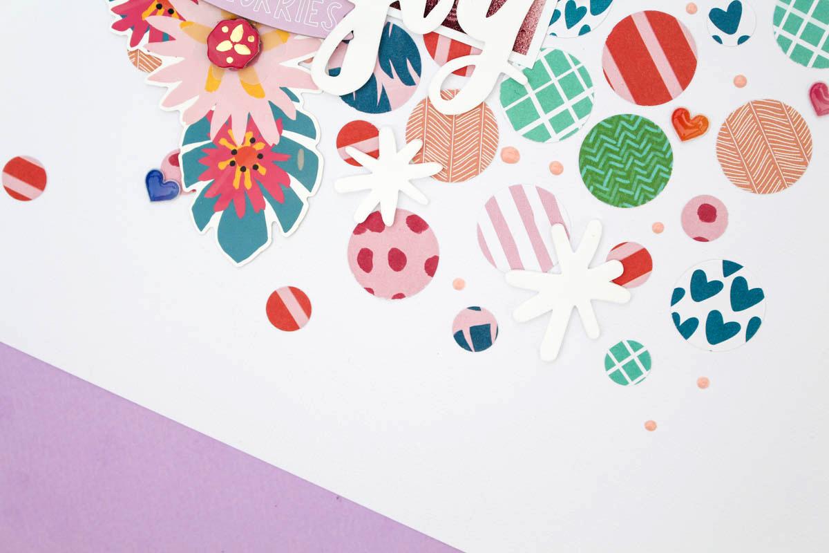 Zinia's Confetti Layout 3