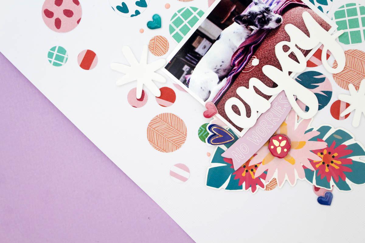 Zinia's Confetti Layout 4
