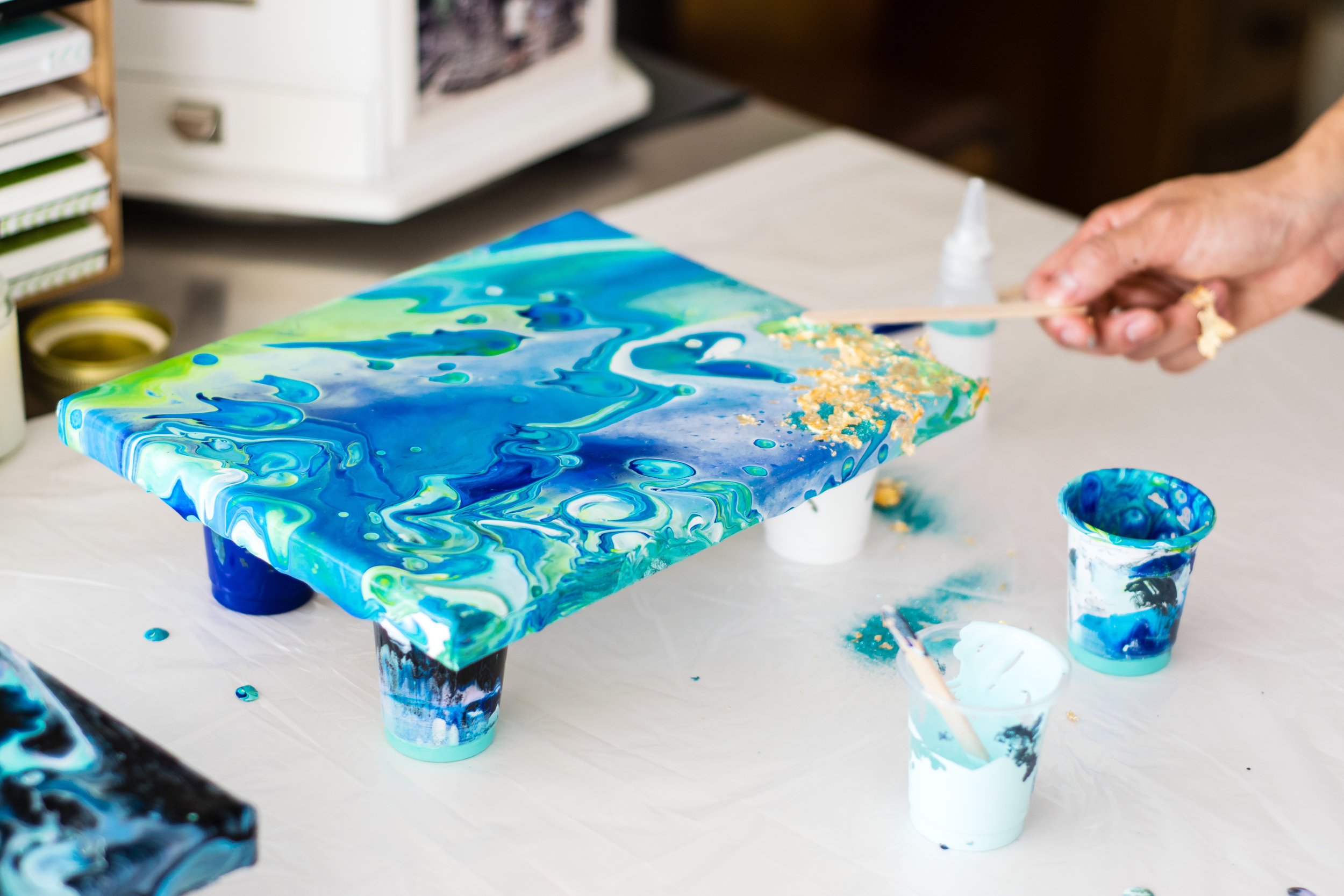 How to Create Color Pour Art