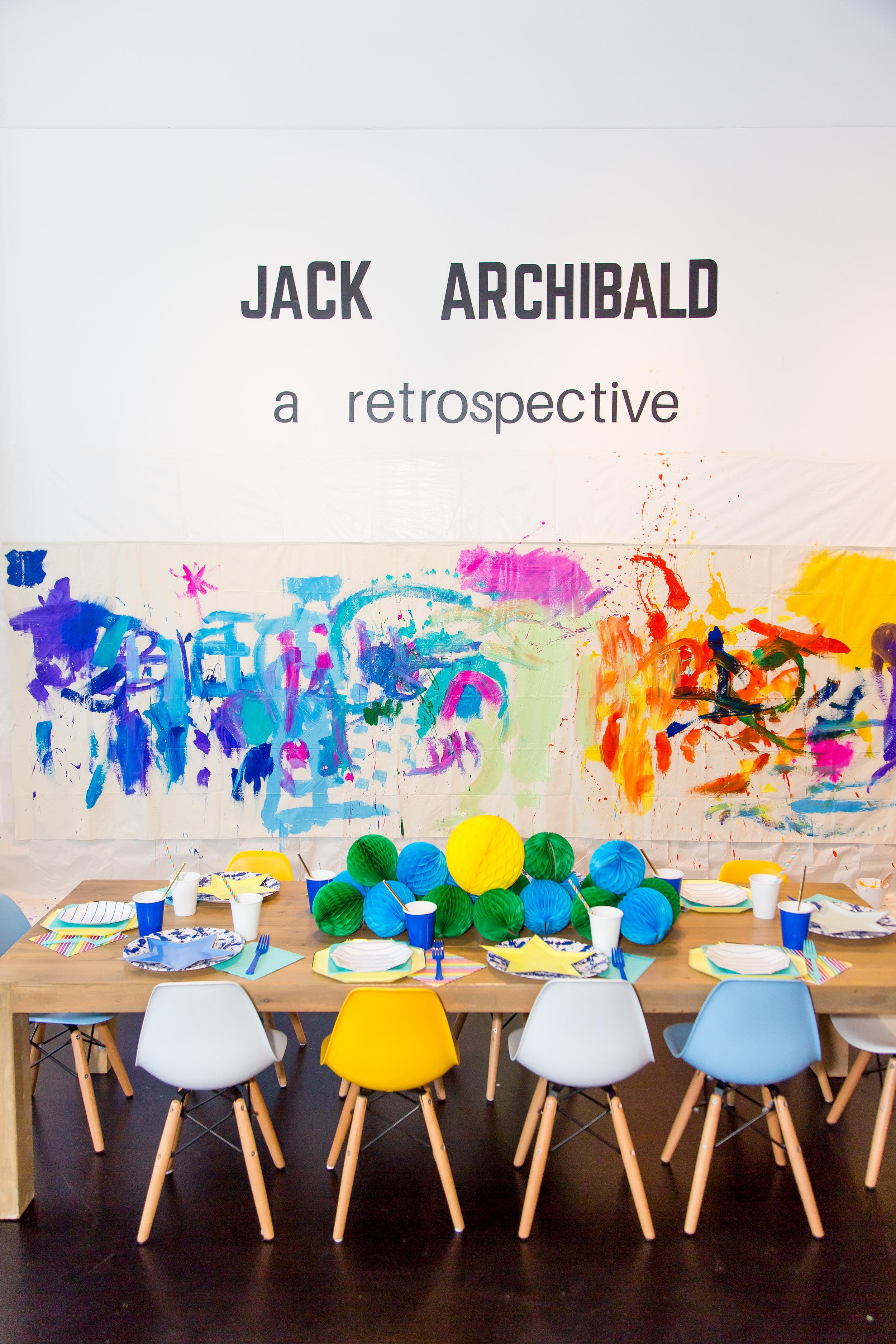 Jack's art party!