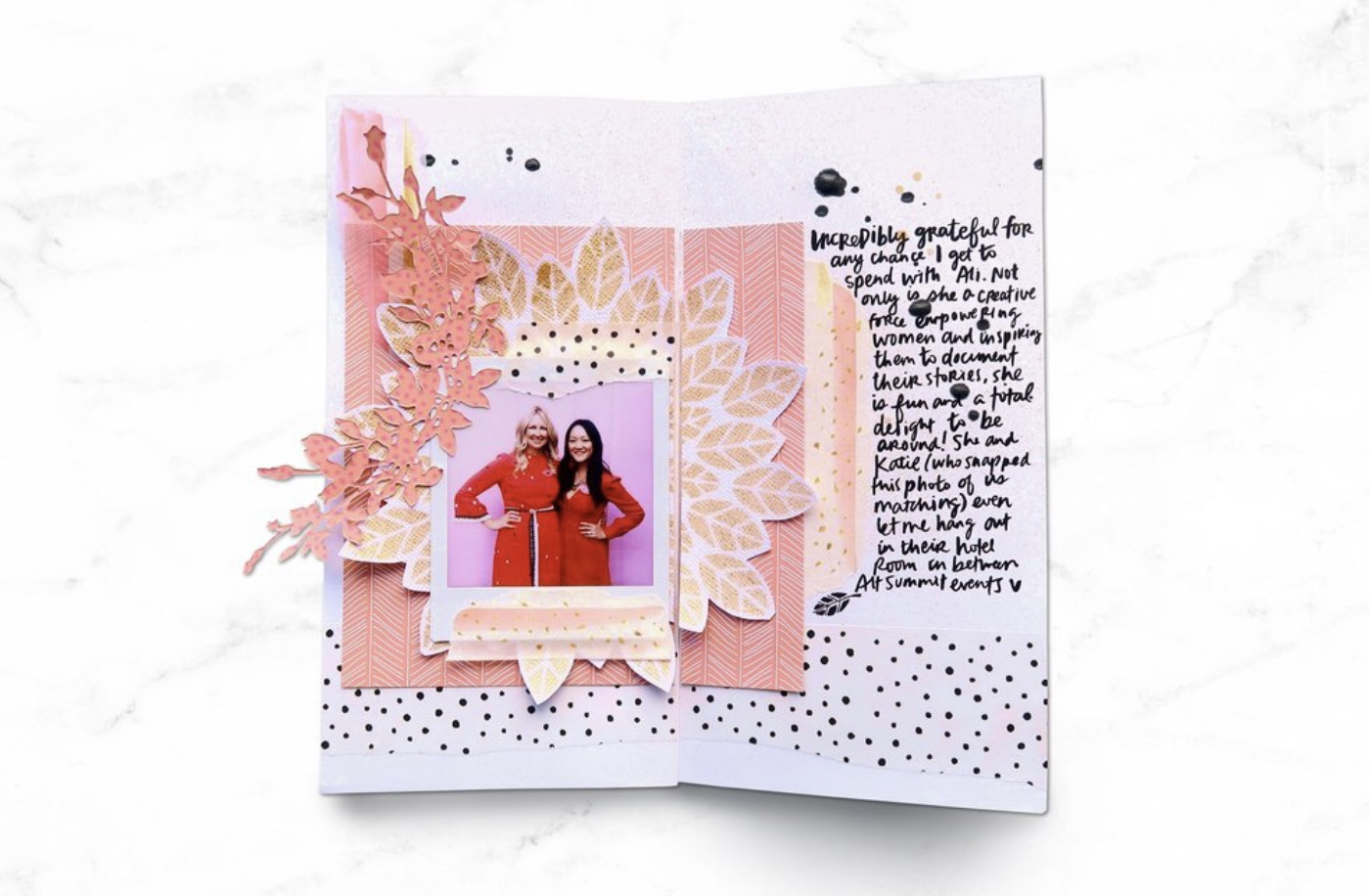 For more ideas and specific instructions for how to achieve this traveler's notebook spread using Altenew products, check out my  blog post  from earlier this year.
