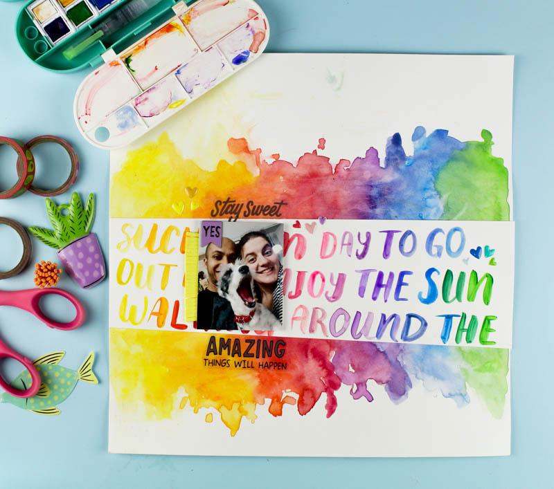 Zinia's Rainbow Handlettering Layout