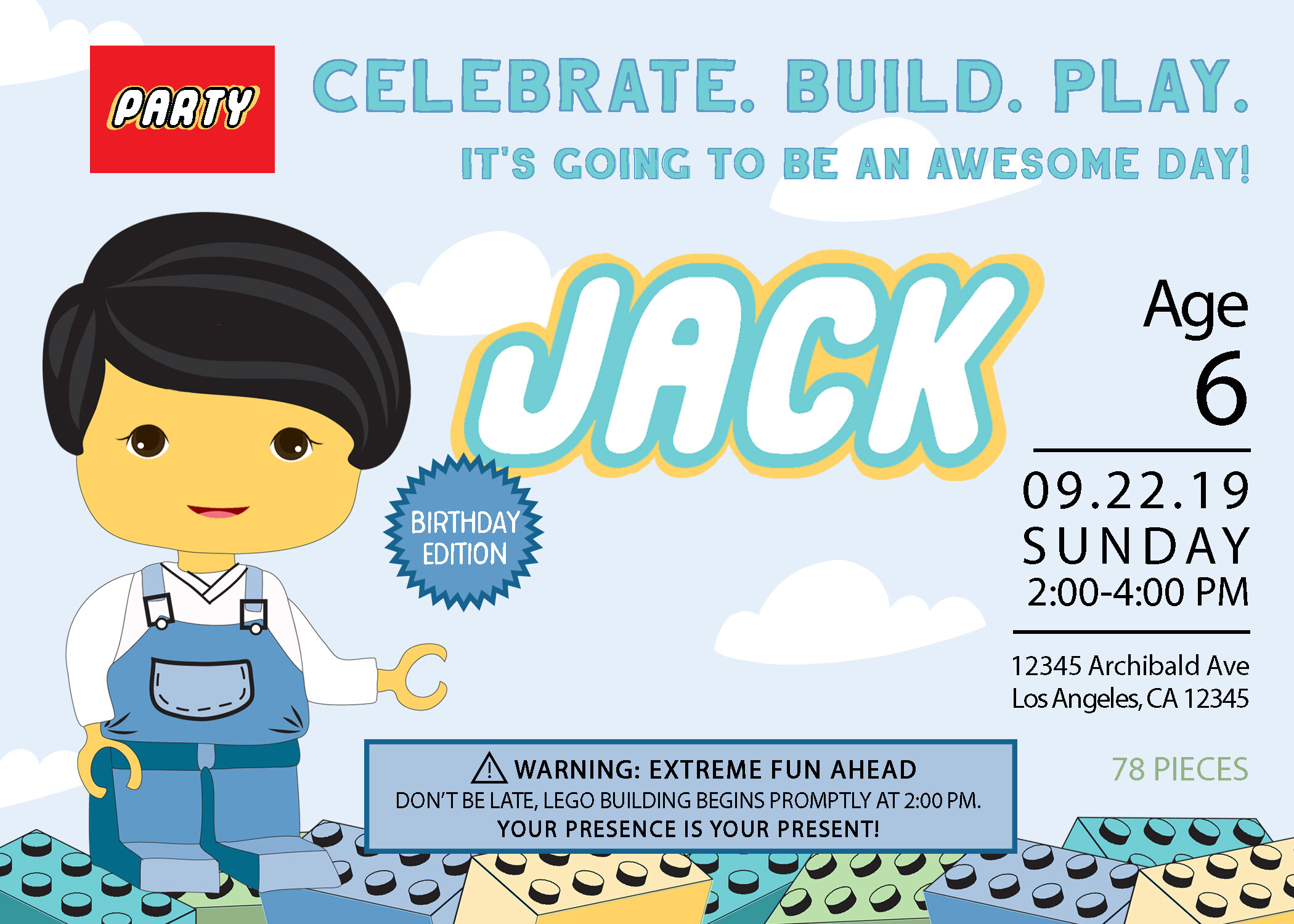 Lego invitation