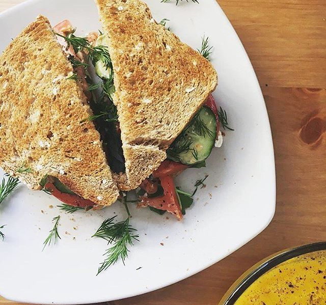 A delicious lunch on some even more delicious bread! 📸: @myersrhoad . . . #bread #yum #eat #amazing #toast #sandwich #lunch #healthy #garden #veggies #gogreen #green #eat #eatlocal #delish #tomatoes #cucumbers #wow #nom #farmtofork #farmtotable