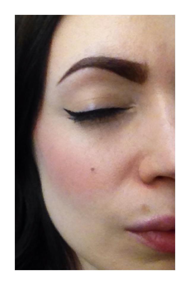 This is my everyday brow, using Mac Embark Shadow, Anastasia Brow Whiz, and the Sephora Angled Liner Brush.