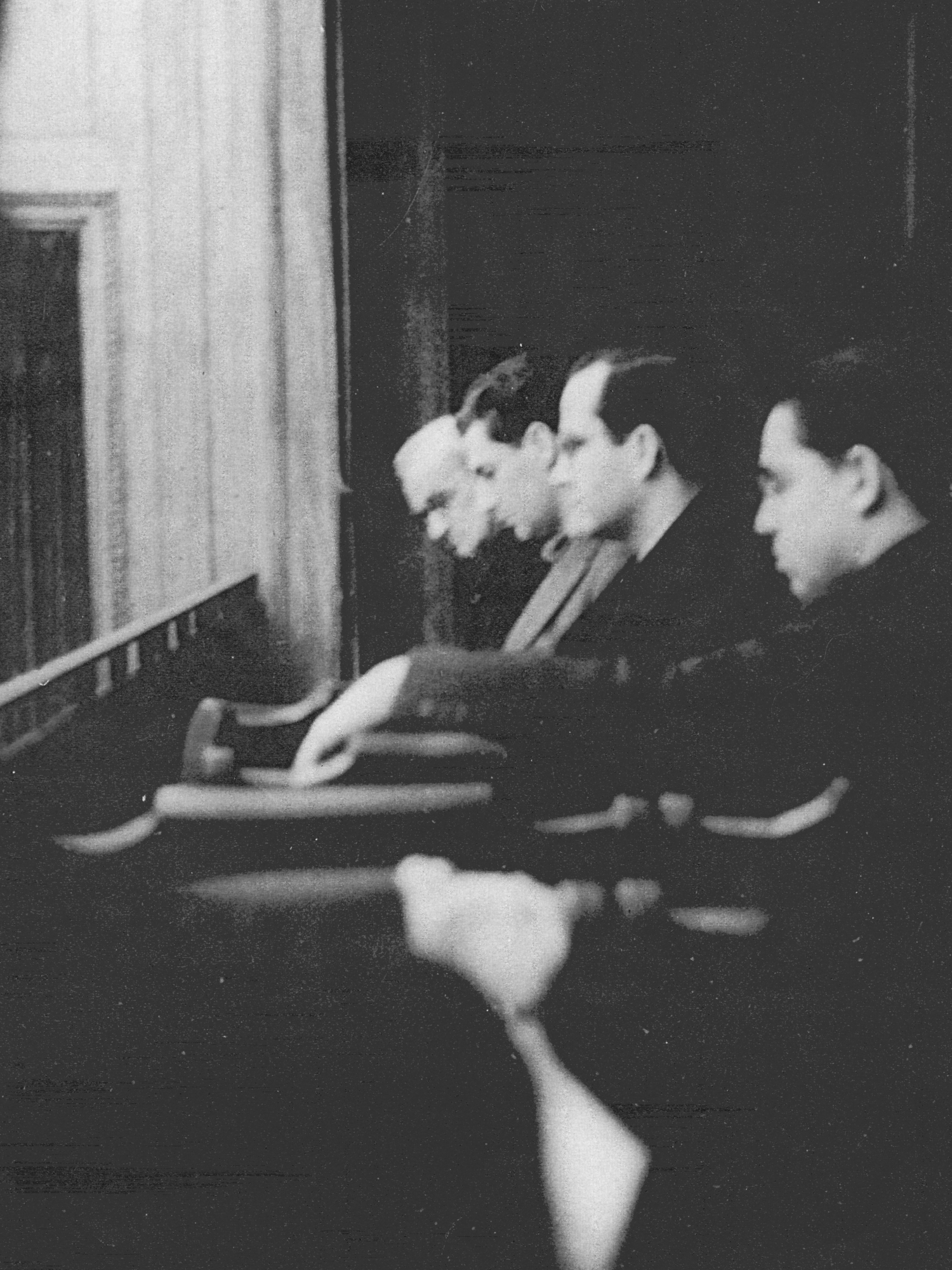 Rosario Scalero, Gian Carlo Menotti, Samuel Barber, and Ralph Berkowitz at Curtis.