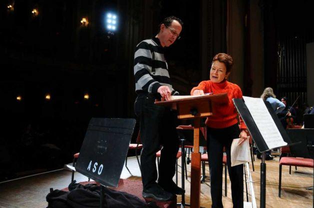 Susan Martula with David Alan Miller