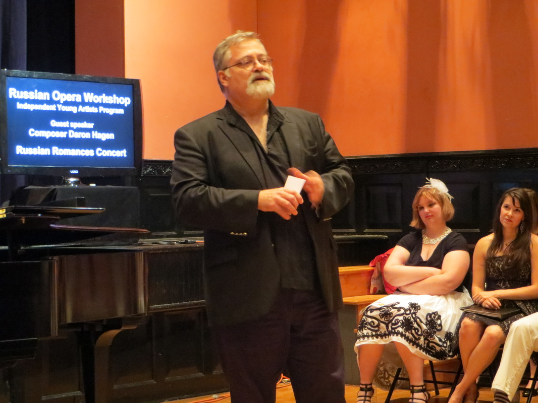 Daron lectures on  Eugene Onegin  during the 2014 Russian Language Workshop.