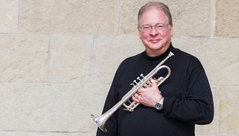 The solo trumpet part in  Joyful Music  was composed for virtuoso John Aley.