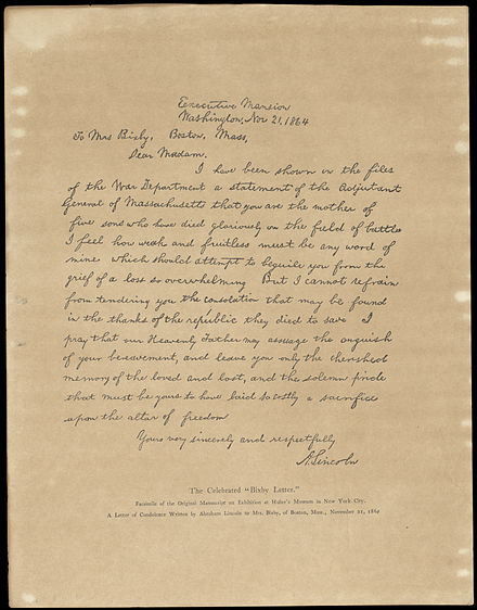 The Bixby Letter.