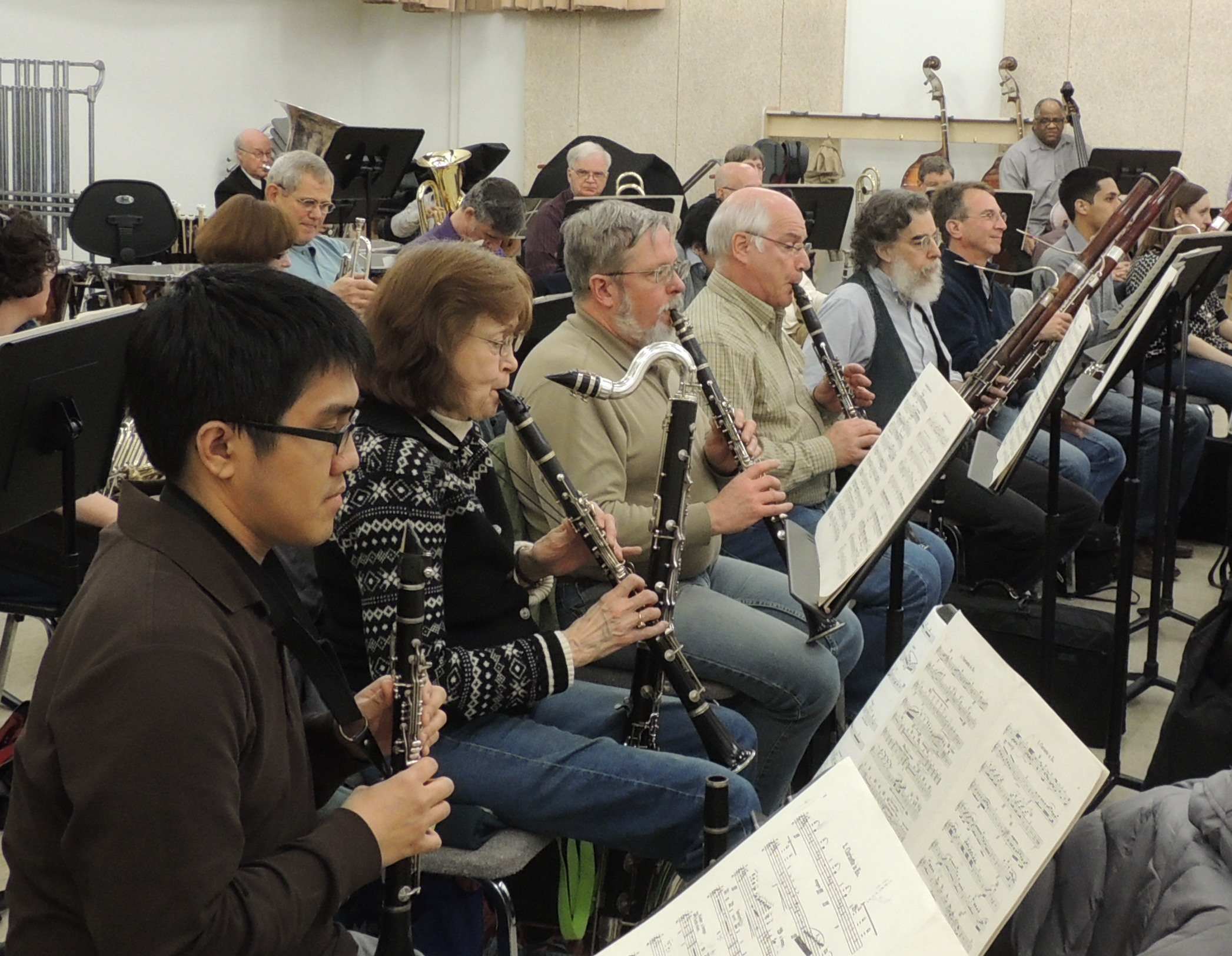 A typical rehearsal features several works from the standard symphonic repertoire.