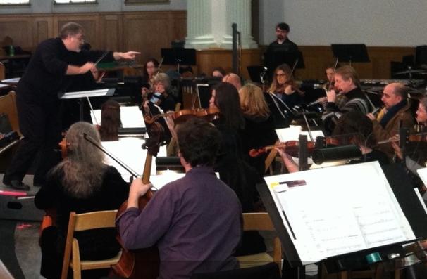 Daron conducts the Yakima Chamber Orchestra.