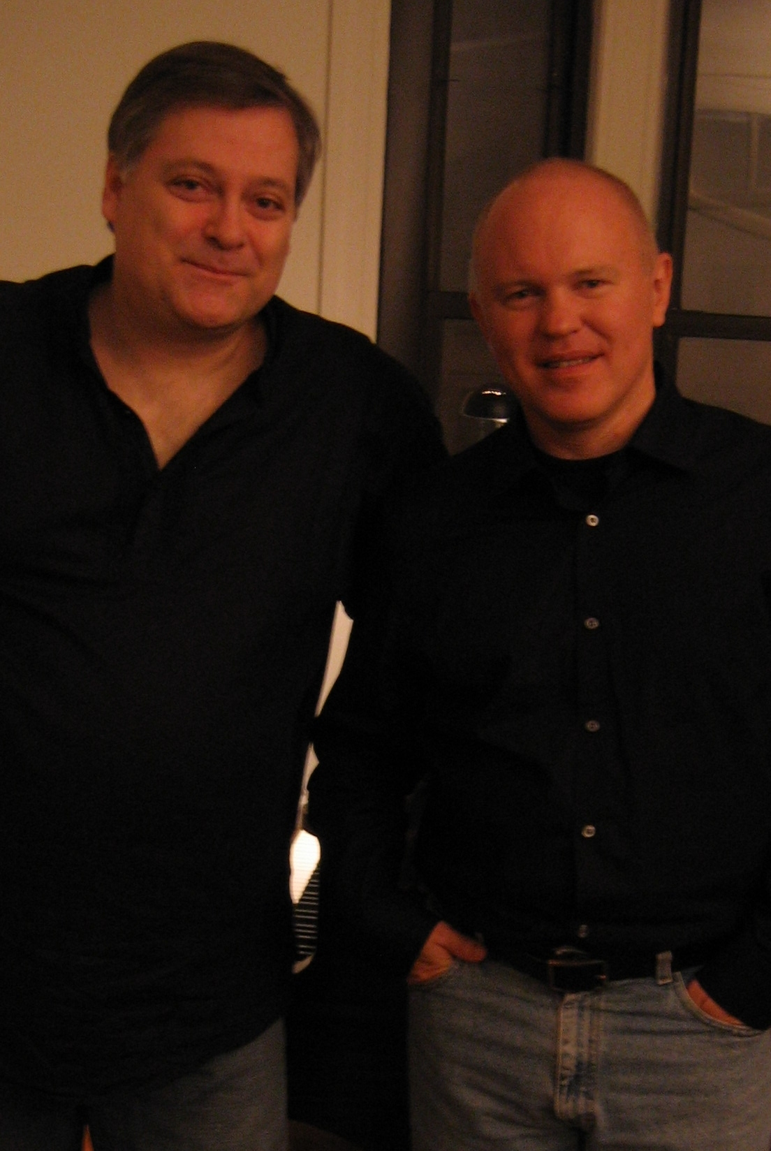 Daron Hagen and Michael Torke. New York City, fall, 2009. (Photo:Gilda Lyons)