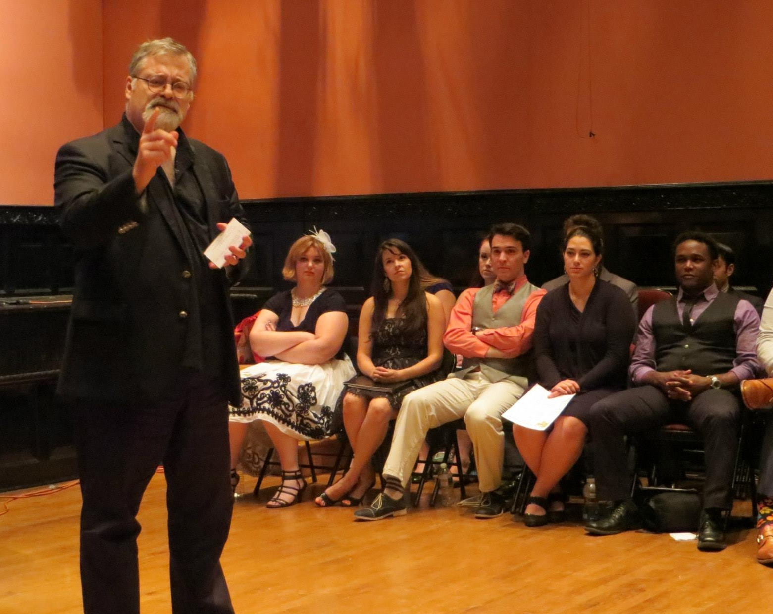 Lecturing on Onegin's libretto to Ghenady Meierson's Russian Opera Workshop at the Academy of Vocal Arts in Philadelphia in summer 2014.
