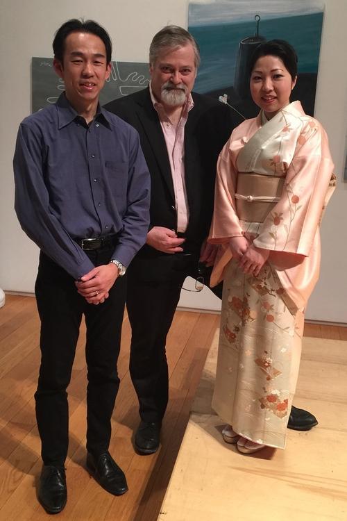 (l.to r.) Hikaru Tamakai, Hagen, Yoko Reikano Kimura