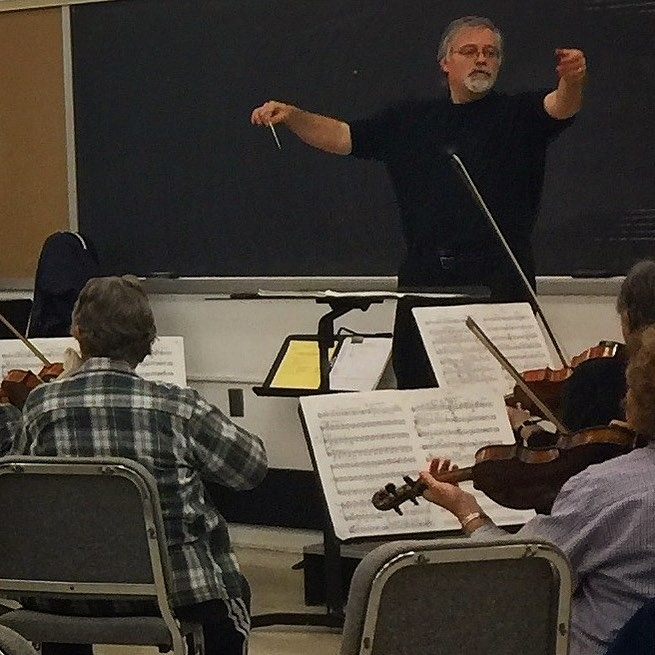 Daron conducting Orchestra Society of Philadelphia. (Photo: Colin Minigan)