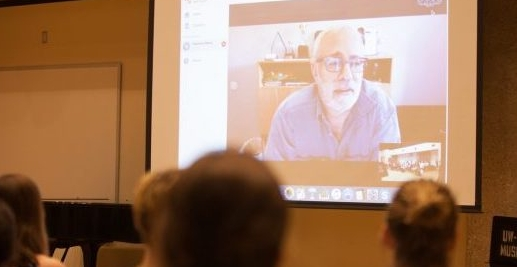 Teaching at the Fresh Inc Festival via Skype.