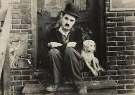 Charlie Chaplin and the Dog.