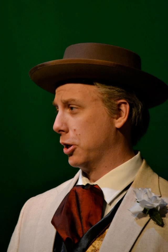 "Kevin Kees as Wright in the ""Fallingwater Brow."""