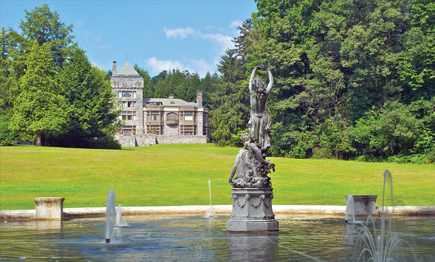 The Yaddo Mansion seen from the Sleepy Naiad Fountain. (Photo credit: Hagen Collection)