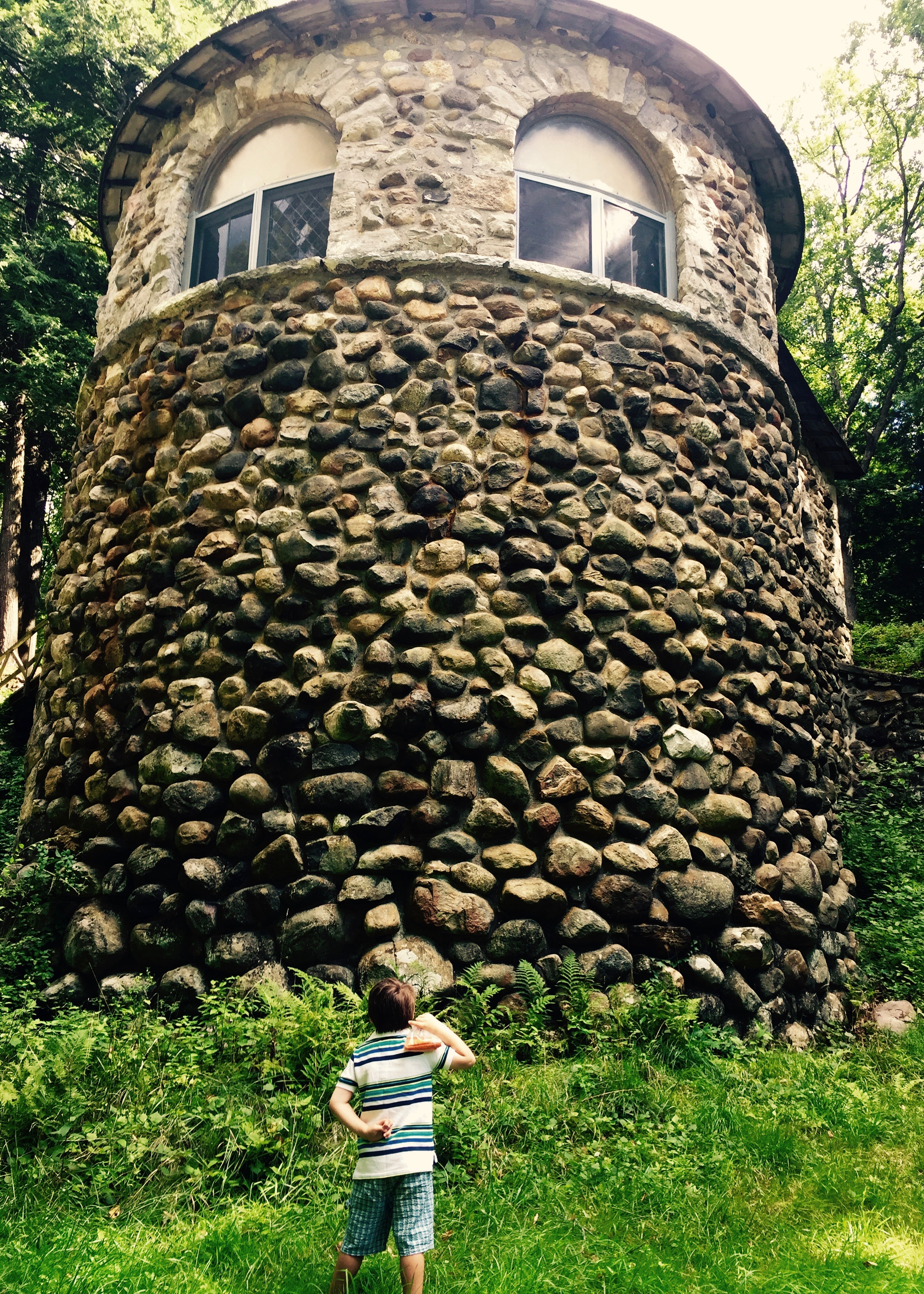 My younger son at Yaddo, Summer 2016.