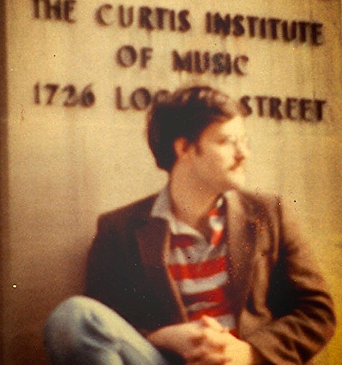As a student at Curtis in 1982. (Photo credit: Norman Stumpf)
