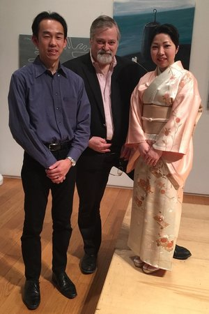 Duo YUMENO and composer Hagen at the Tenri Cultural Institute in Manhattan.