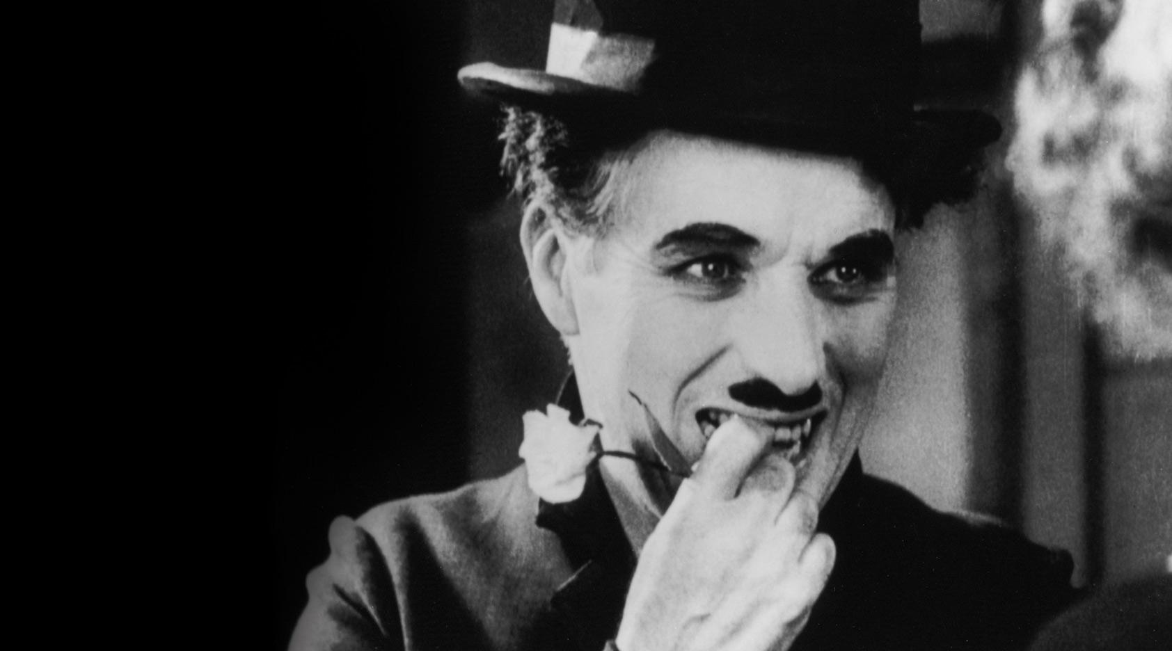 "Charlie Chaplin in ""City Lights."""