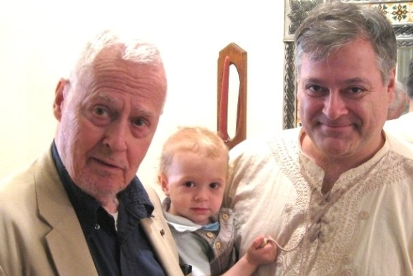 Ned Rorem and Daron Hagen with Daron's son.