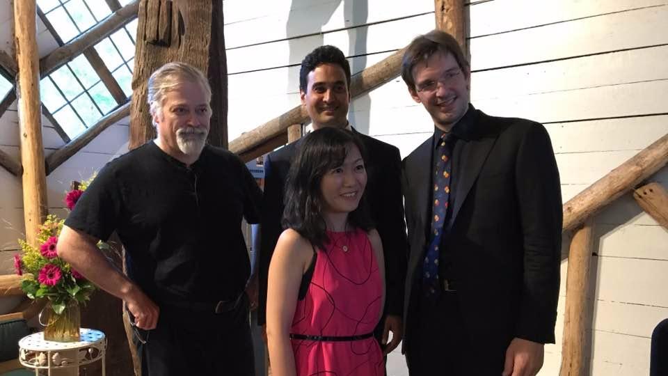 The Horszowski Trio with Daron Hagen at Maverick, in Woodstock, NY, summer 2018.
