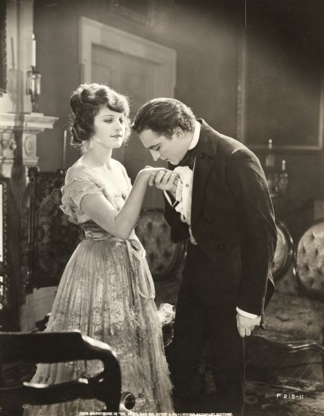 """Martha Mansfield and John Barrymore in """"Dr. Jekyll and Mr. Hyde."""""""