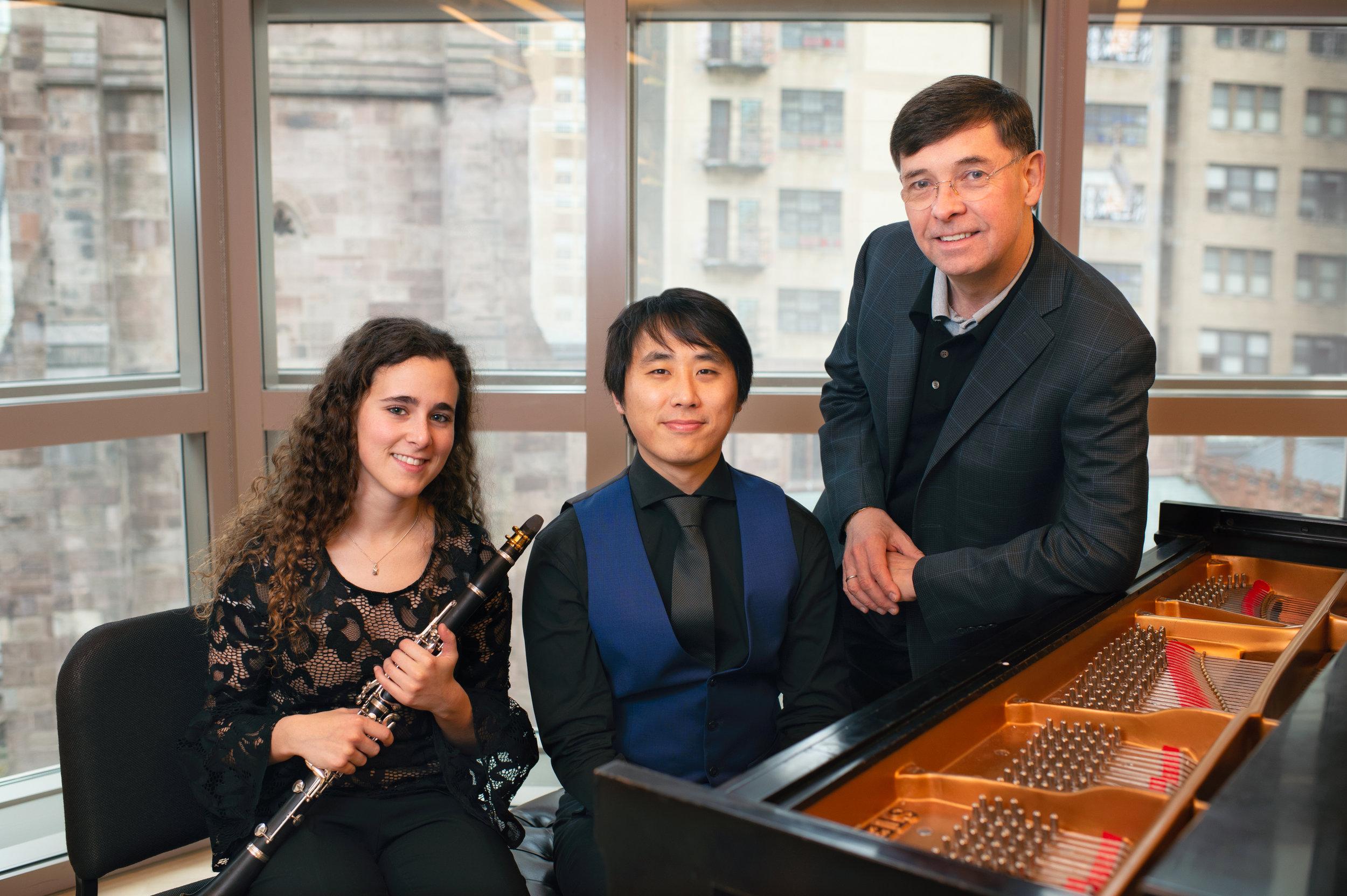 Tania Villasuso, clarinet, Roberto Díaz, viola, and George Xiaoyuan Fu, piano.