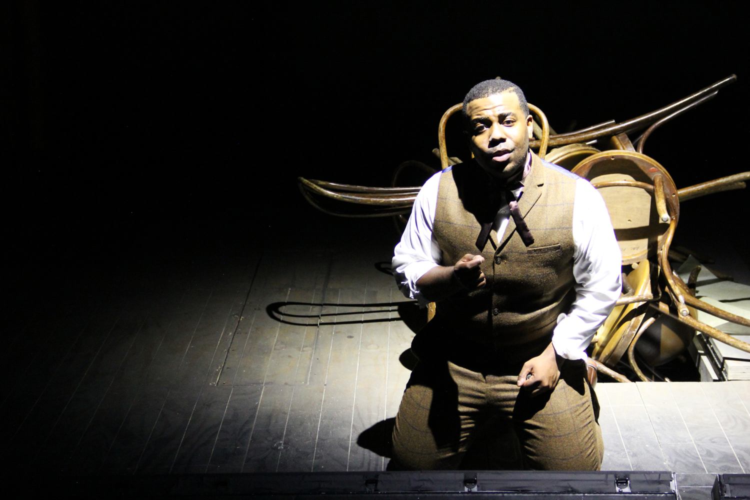 Sidney Outlaw as Frank Lloyd Wright in the Urban Arias production directed by Grant Preisser.