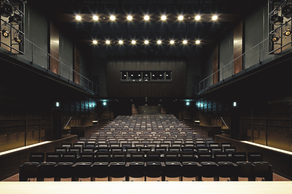 Densho Hall at the Shibuya Cultural Center Owada in Tokyo, Japan, site of the Japanese premeire of Koto Concerto: Genji.
