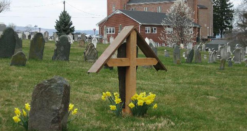 View from Cemetery of New Jerusalem Lutheran Church. Lovettsville, Virginia.