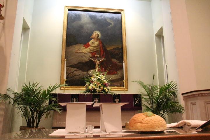 Christmas Service at New Jerusalem Lutheran Church. Lovettsville, Virginia.