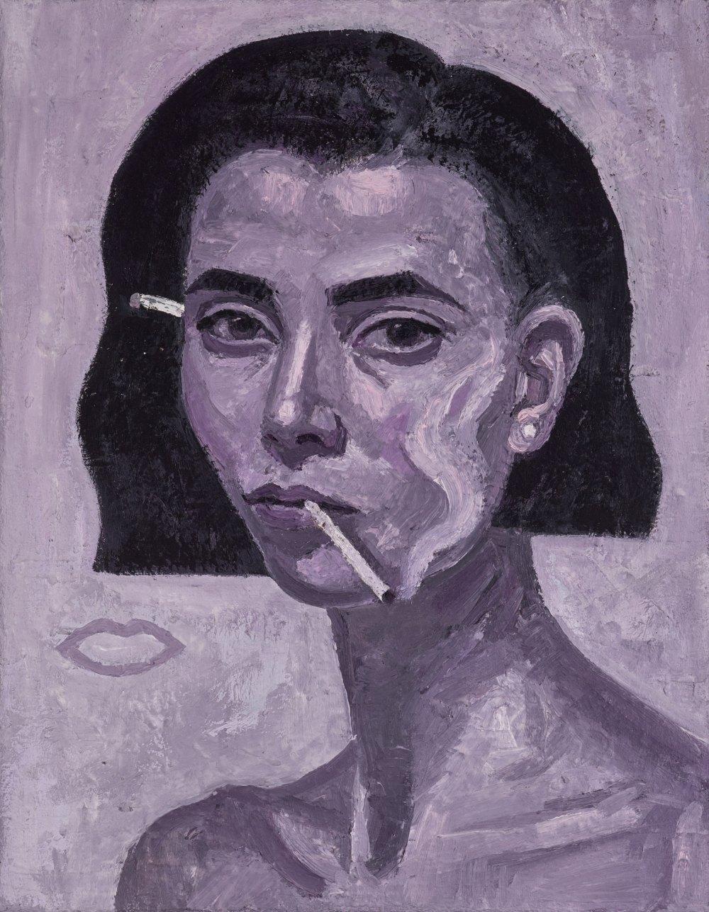 Yvette Coppersmith - Companion piece. Rose Burn, self-portrait