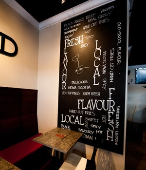 Chalk Board, created by Chef Michael Smith