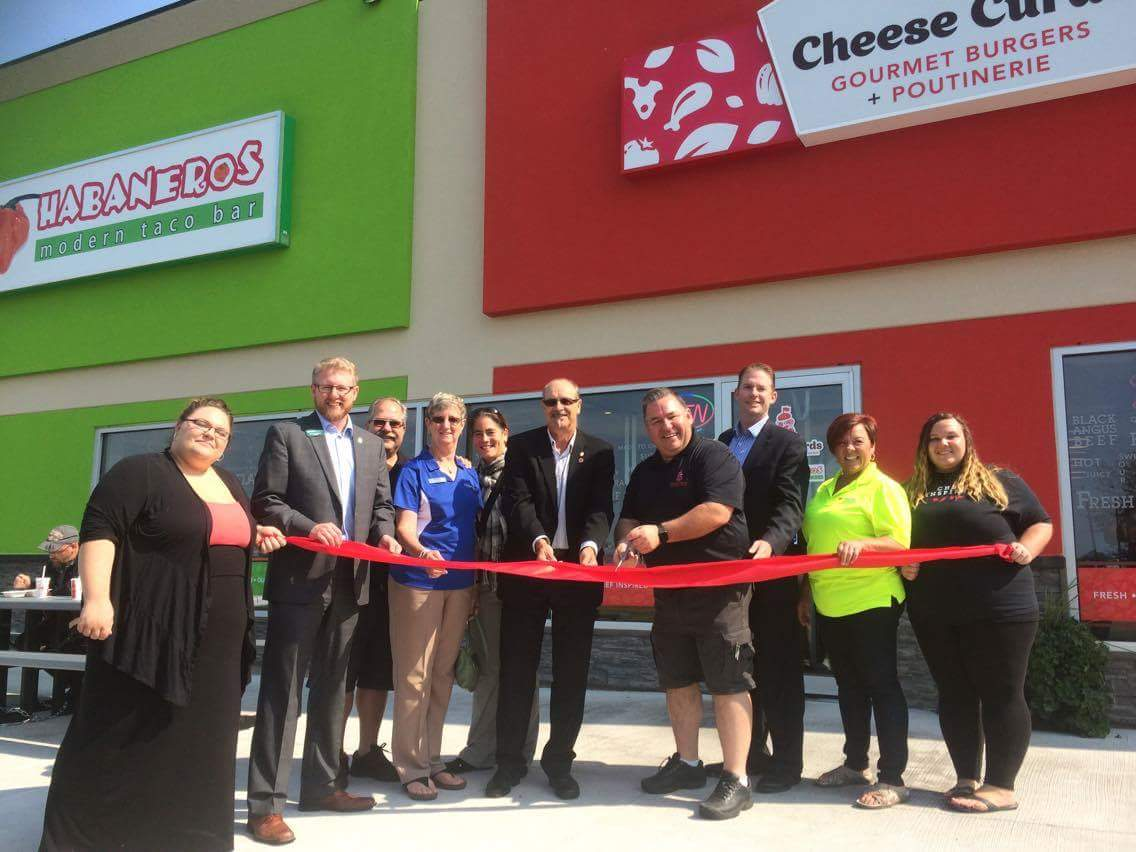 Grand Opening, September 12th 2017.  Many locals joined the celebration, including Mayor Robert Powell, MLA Jody Carr, and members of the Chamber of Commerce
