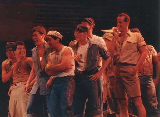 The cast of SOUTH PACIFIC at The Birmingham Theatre, directed by  Peter Lawrence, choreographed by Rob Marshall.