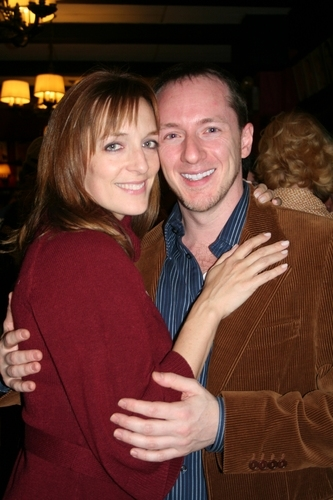 "With Julia Murney, my college buddy and ""old friend."""