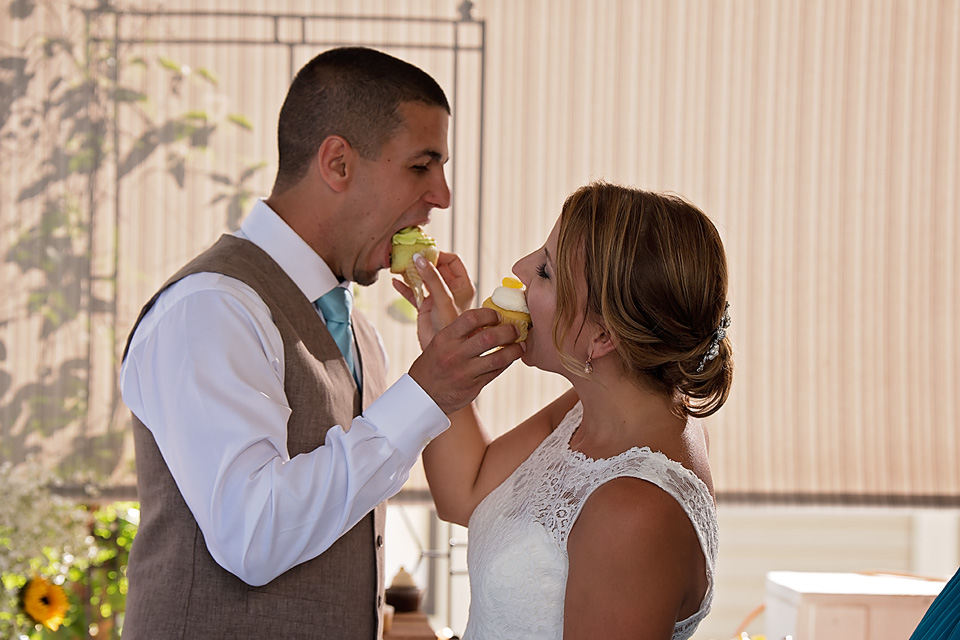 Charlie & Mallory sharing a cupcake... before he tried to smear it all over her face!