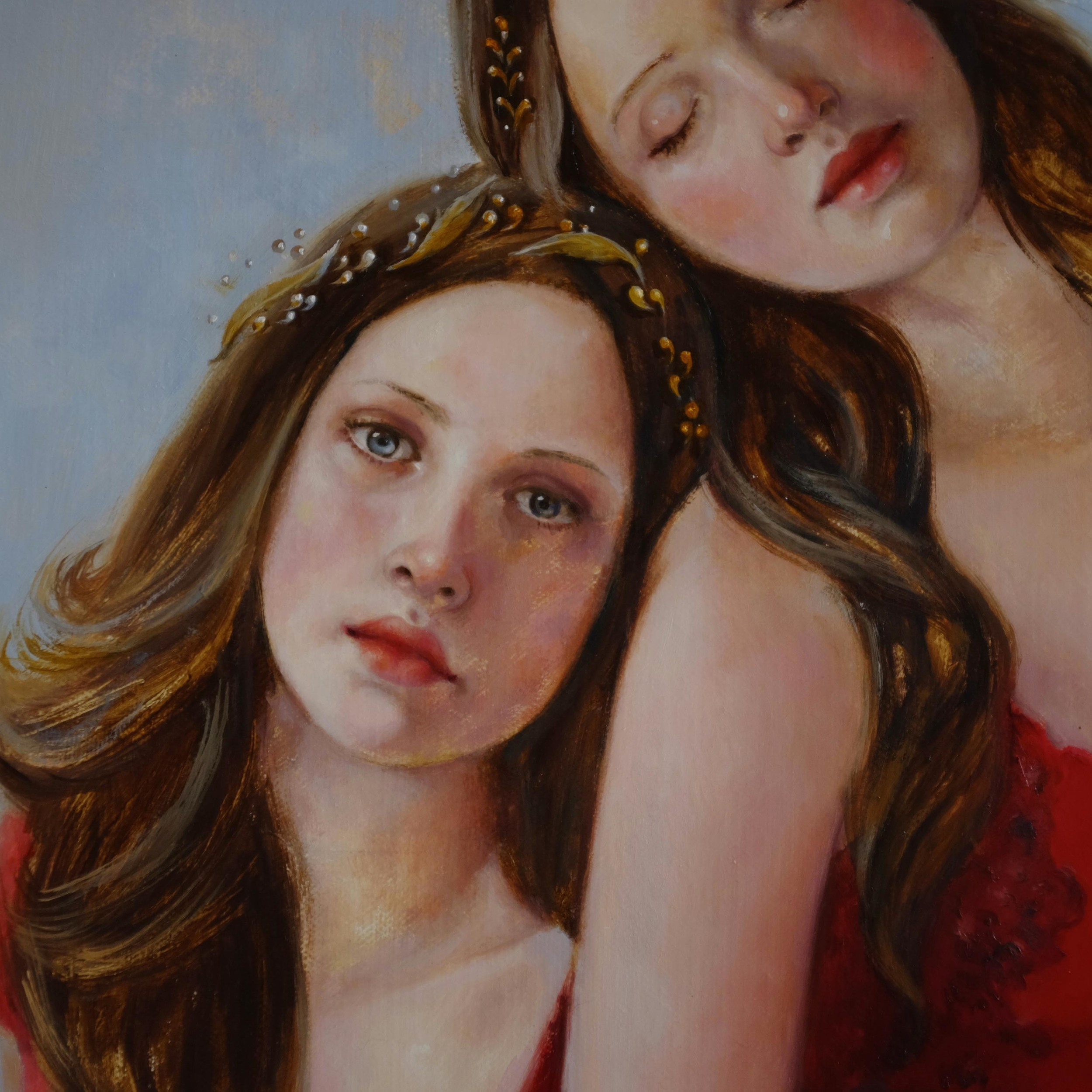 Face detail of Neptune's Daughters by Soraya