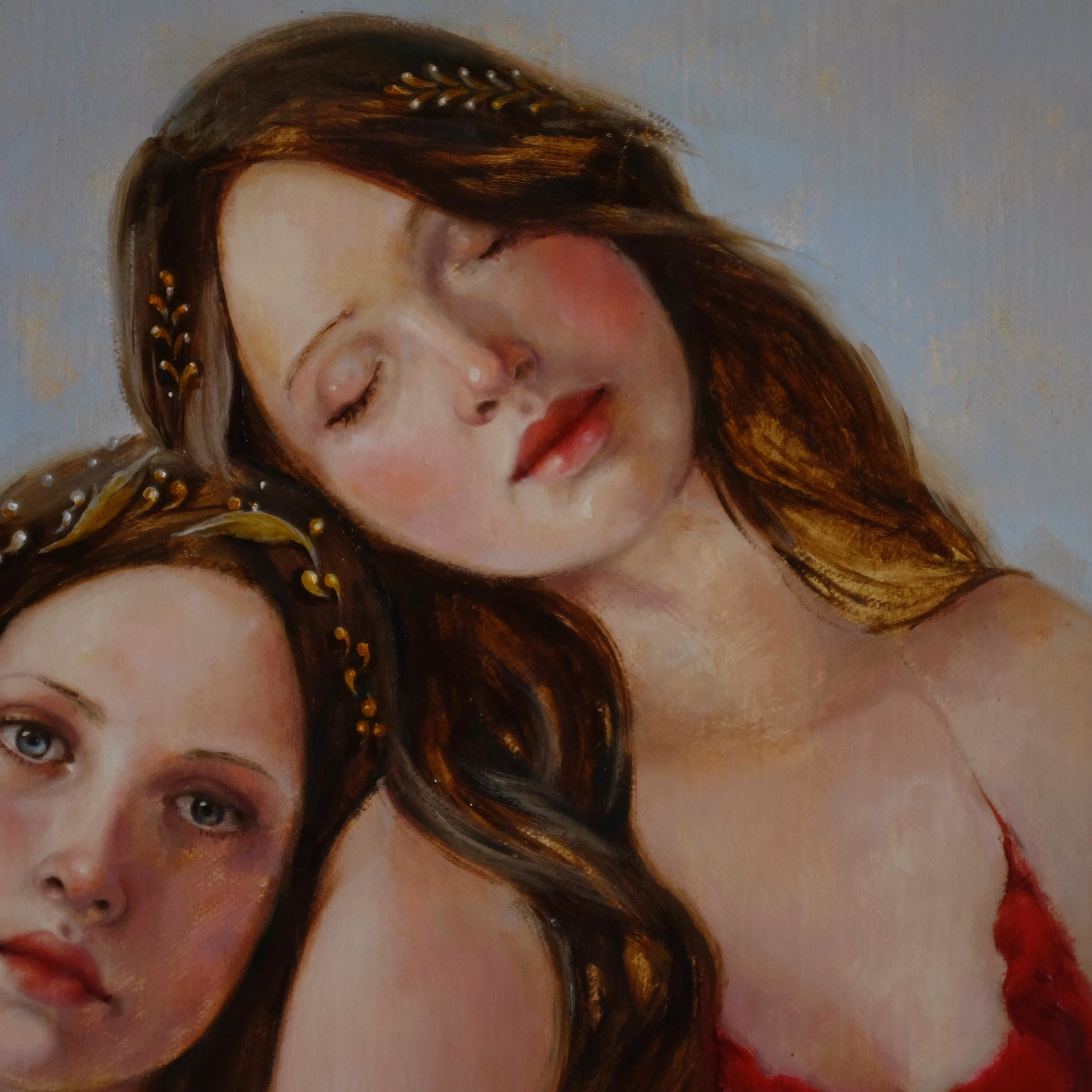 Face 2 detail of Neptune's Daughters by Soraya