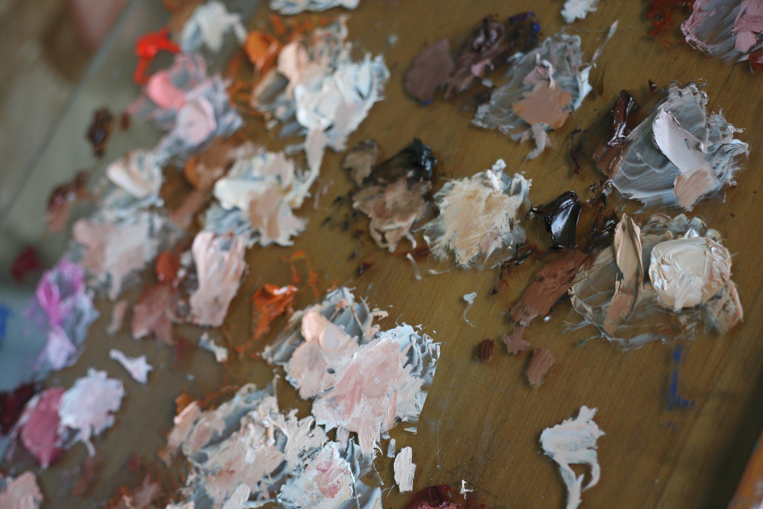Palette detail -