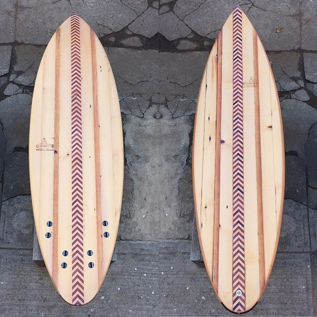 "Done and for sale!  5'10 x 20"" x 2.5"" The first submarine surfboard for sale to the public. Weighing in at 13lbs 4 ozs. DM for details. Check out the previous posts for the double concave through the tail."