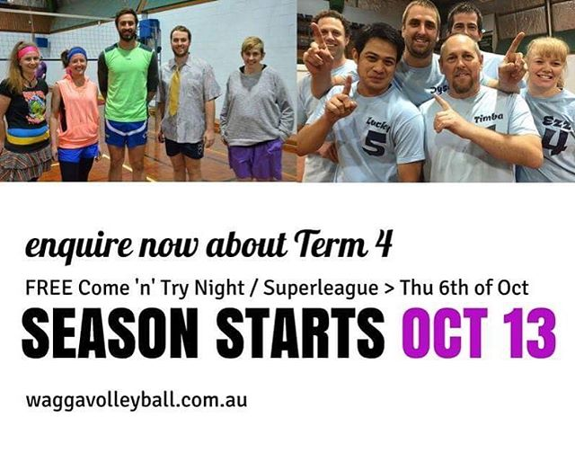 How would you like to GET SOCIAL with #waggavolleyball this October? Join us for a free Come'n'Try and Registration Night on October 6 @ Bolton Park Stadium. We'll be hosting a 'SuperLeague' event; new and returning players welcome 🏐🏐🏐