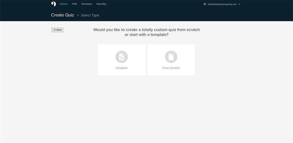 Screenshot of Interact Quiz Maker